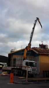 Kranarbeiten_4, Kran, Kranarbeiten, Egger Transporte, Dachdecken, Dachstuhl, Effer
